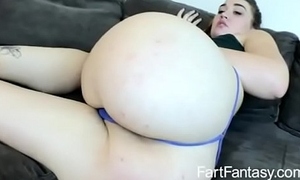 Broad in the beam ass farting