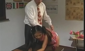 Proximal titted schoolgirl gives juicy oral-service and rides dick