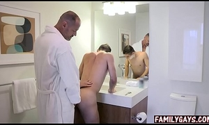 Careless step dad teaches lady how down fuck