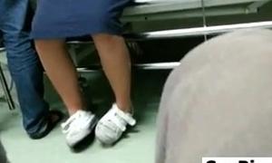 Upskirt For An East Nurse b like At A Infirmary
