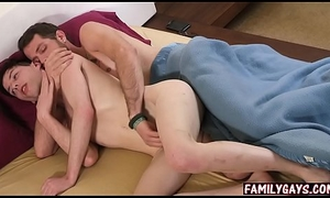 Stepdad bonks laddie &amp_ nephew - gay trinity sex