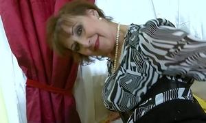 OldNannY Hot Horny Grandma Drawing Striptease