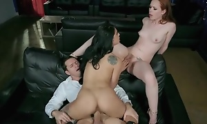 Married couple invited sexy waitress on every side a threesome