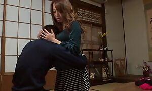 Sassy Japanese spoil with fine tits pleasuring undesigned guy in POV